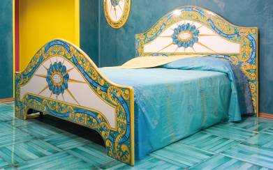 Спинка кровати роспись